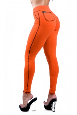 Orange Legging with Round Pockets