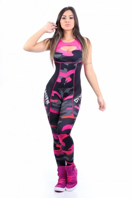 Pink Army Fitness Jumpsuit