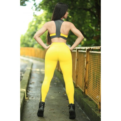 Calça Legging Yellow Gray Belaz Dynamite