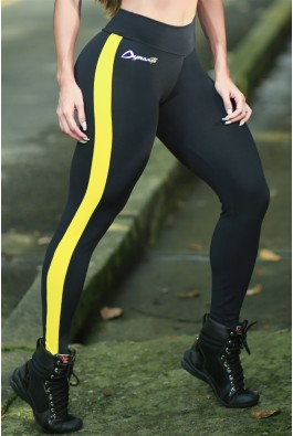 Legging Black Yellow Motorgrader  Dynamite