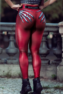 Calça Legging Naughty Skeleton RED