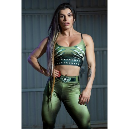 Top fitness Naughty Skeleton Olive Dynamite