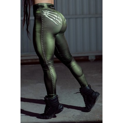 Calça Legging Naughty Skeleton Olive