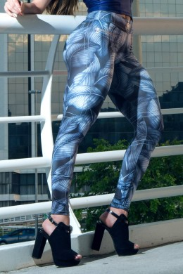 Calça Legging Blue Leaves Estampada Dynamite