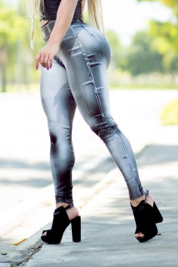 Legging Denim Bodypaint black
