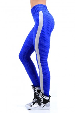 Legging Fusô Azul Royal Textured
