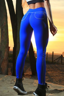 Legging Royal Azul Bolso