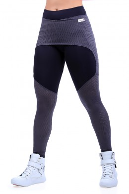 Legging Saia Black & Grafite