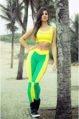 Legging  Xadrez Brazil Colors