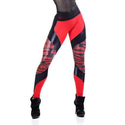 Legging Texture Red Black