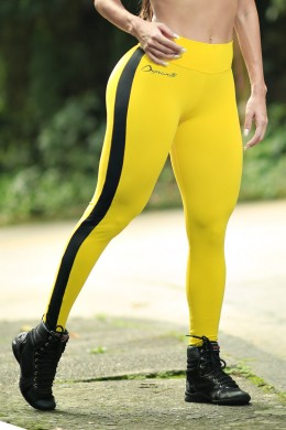 Calça Legging yellow black Truck  Dynamite