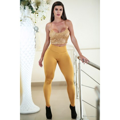 TOP CROPPED FESTO GOLD PAETÊ