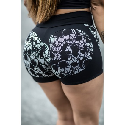 Short Fitness Apple Booty black skull