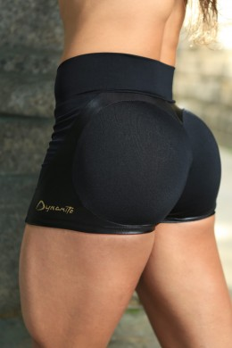 Short Preto Apple Booty