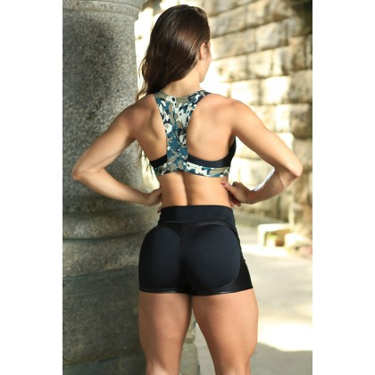 Short Fitness Preto Apple Booty Dynamite