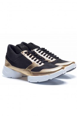 Tênis HardcoreFootwear Low Black Gold